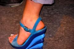 marshmellow (pucci.it) Tags: blue shoe platform heels femalefeet