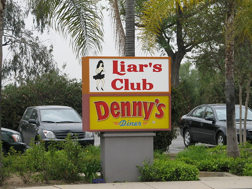 Irwindale Liar's Club/Denny's sign