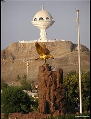 golden eagle (h a t h i w a l a) Tags: fountain eagle pole burner oman muscat goldeneagle cornish hathiwala riyam riam 0407160043