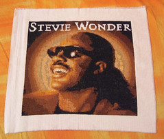 Stevie Wonder Cross Stitch