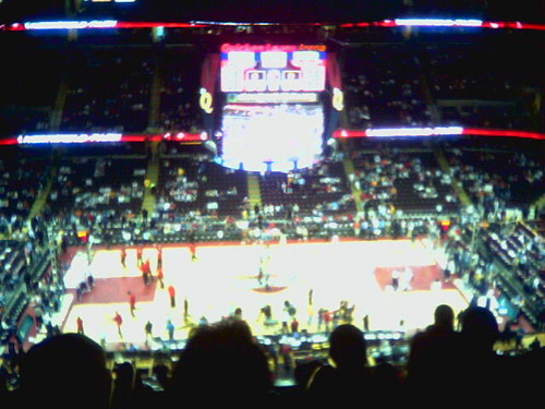 Cavs game on cameraphone