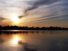 Smolder (Picture Pages by Patrick) Tags: trees sunset lake reflection water clouds illinois horizon fcsetsrises