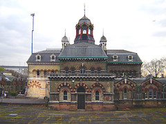 Abbey Mills, West Ham (Fin Fahey) Tags: city uk greatbritain windows england urban building london history industry water architecture geotagged europe industrial pumps unitedkingdom britain eu arches historic sewage cupola dome paving waste sewer piping europeanunion services listed greenway eastlondon e15 pumpingstation westham newham capitalcity innerlondon abbeymill