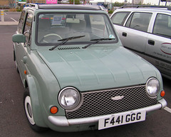 1989 Nissan Pao (jovike) Tags: green car nissan transport vehicle pao
