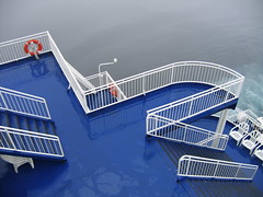 Blue Deck (ad@m) Tags: blue sea orange netherlands amsterdam fog ferry newcastle interestingness king ship lifebelt north deck bouy scandinavia 1on1 ijmuiden dfds interestingness306 i500 judgementday50 judgmentday50 explore09may06 explore9may06