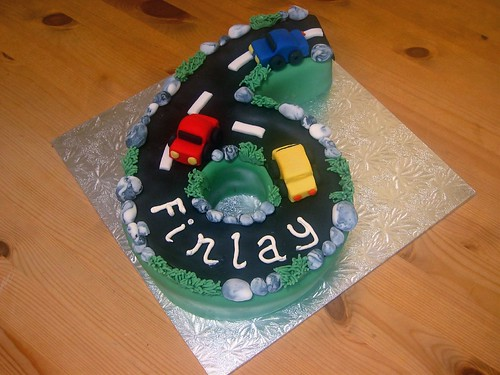 Number 6 Car Cake Beautiful Birthday Cakes