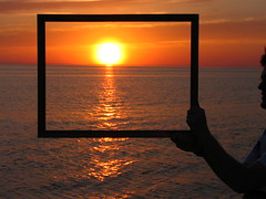 Framed Sunset