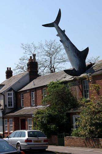 Headington Shark in Oxford (untitled 1986)