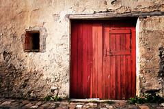 Red Door - italy red rimini door porta rossa montebello