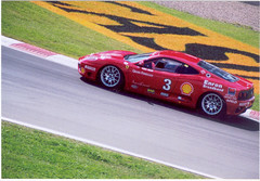 Ferrari 360 Modena sponsored by Enron! (Steve Brandon) Tags: enron ferrari 360 modena ferrari360 ferrarimodena sportscars sportscar exoticcars exoticcar racing race montreal circuitgillesvilleneuve racetrack stockcarracing car automobile geotagged quebec canada ferrari360challenge