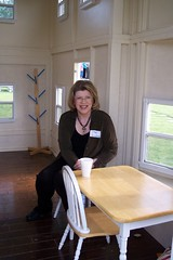 Tori having coffee in a little house (Erling A) Tags: warmplace