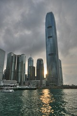 Hong Kong Sunset (` Toshio ') Tags: china sunset hk skyscraper hongkong harbor asia cityscape hong kong ifc hdr hongkongisland kiss2 1on1 toshio ifctower starferries kiss3 kiss1 kiss4 worldthroughmyeyes kiss5 2on2halloffame 2on2julyhalloffame
