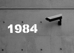 past, present or future? (view-askew) Tags: camera norway bug flickr gamma ominous surveillance cctv security literature censorship future 1984 conspiracy orwell font present blogged monitoring past trondheim hacks recording dystopia slickrframe