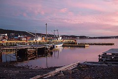 Green's Harbour Boats (Clyde Barrett) Tags: sky clouds newfoundland boats dock harbour wharf greens nl nfld trinitybay clydebarrett