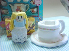 - Tea Cup and Saucer - (Warm 'n Fuzzy) Tags: blue cute cup tea alice plush swap warmnfuzzy warmnfuzzynet