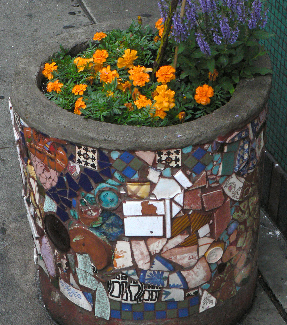Jim Power Mosaic Planter