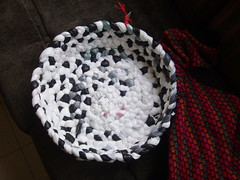 Plastic bag's basket (Arbel Egger) Tags: basket sale craft recycle plasticbags banthebag goodbag