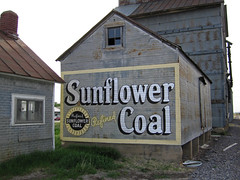 Sunflower Coal - Wilson, Kansas (jschumacher) Tags: sign ad kansas wilson wilsonkansas sunflowercoal