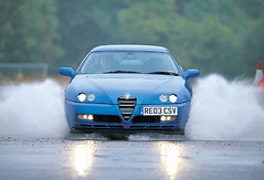Alfa Romeo GTV (michaelward_autoitalia) Tags: blue italian alfa romeo gtv watersplash longcross autoitalia michaelwardphotos re03csv