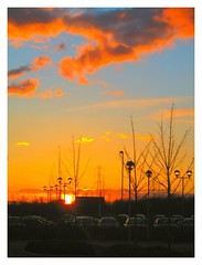 A Big Orange Picture with lots of Orangey Bits (The Reckless Libertine) Tags: park sunset cars business carpark cobalt sunscape northtyneside saveit deleteit2 deleteit1 deleteit3 deleteit4 deleteit5 deleteit6 deleteit7 deleteit8 deleteit10 deletedbydeletemeuncensoredsunscapes