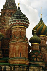 St Basils domes Red square Moscow Russia