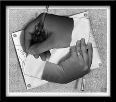 cuadro de escher manos enredadas