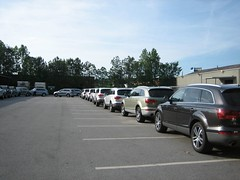 Q7s Lined Up (davidfry) Tags: atlanta audi q7 streetsoftomorrow