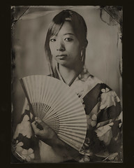 Midori tintype #1 (Zmanphoto) Tags: portrait japan wow asian japanese tintype ambrotype wetplate kimono nophotoshop midori alternativeprocess collodion antiqueprocess