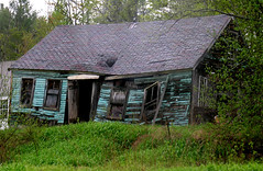 Abandoned - New Hampshire (adamantine) Tags: old house green abandoned cyan newhampshire rainy forgotten groton iloveit petercristofono ci33