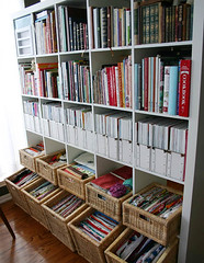 organized bookshelf - by Laurie | Liquid Paper