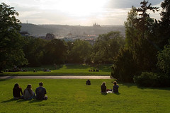 late evening in Prague (pavelm) Tags: gardens relax evening czech prague praha outlook recreation hradany sady riegerovy