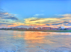 Lytham Sunset (mliebenberg) Tags: landscapes scenic sunsets windmills lancashire lytham hdr stannes fylde photomatix hdrphotography hdrphotos markliebenberg markliebenbergphotography