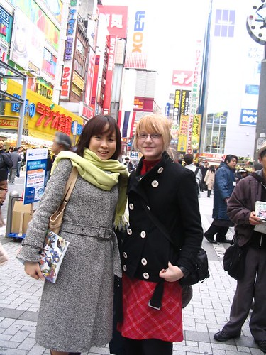 In Akihabara with a student