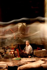 apparitions (Farl) Tags: longexposure monument temple cambodia doors khmer prayer buddhism nun unesco altar visitors angkor taprohm hinduism incense portals worldheritage slowshutterspeed kampuchea phototip bluelist
