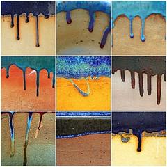 Pot glazing drips (Leo Reynolds) Tags: photomosaic pot scoutleol30 groupphotomosaics photomosaic2007 fdsflickrtoys xexplorex groupfd xleol30x xphotomosaicx hpexif xratio1x1x xsquarex xx2006xx