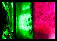 Fusion (Christine Lebrasseur) Tags: pink light shadow france macro green art water manipulated canon sand poetry quote mosaic bubbles vase jelly fusion onblack molires interestingness405 charlesmarielecontedelisle theinterestingest allrightsreservedchristinelebrasseur