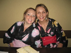 yukata clad Emma Small and Kate
