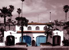 Oceanside Beach Public Restrooms (EthnoScape) Tags: california roof color beach sepia tile pier arch arches oceanside mission archway publicrestroom sncgroup