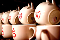 Row of Joe (fensterbme) Tags: columbus ohio 20d cup contrast interestingness row rows mug columbusohio hanging coffeemug grandview fenstermacher staufs grandviewheights 2470mm fensterbme canon2470mm interestingness389 i500 canon2470mmf28l staufscoffeeroasters explore06jun06