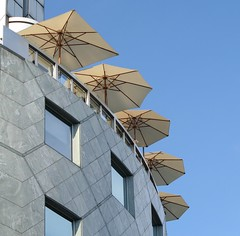 Roof garden (catb -) Tags: vienna travel roof rooftop window architecture umbrella buildings austria fa lplookup