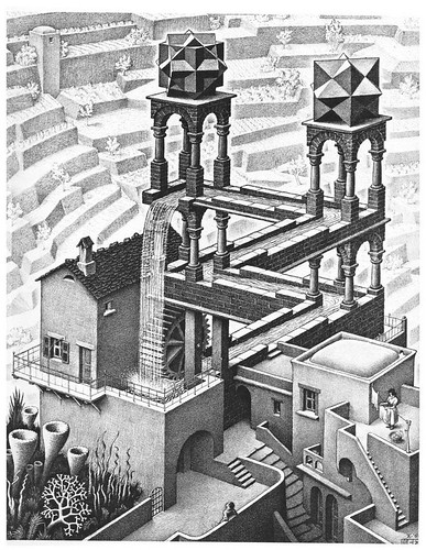 Escher, cascada
