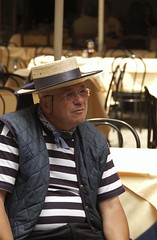 Old Gondolier (Karney Li) Tags: travel venice people italy europe backpacking gondolier