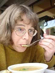 Taste the soup (Thingo) Tags: me self oz canterbury brownsbakery activeassignmentweekly bestofweek01 bestofweek3 bestofweek4 bestofweek02 sensorycommunication malingroad 2006jun1926 Thingo:ID=dsc03906s