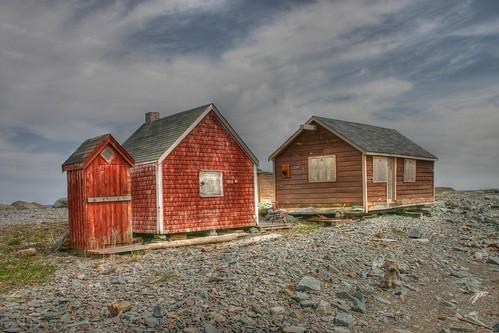 Shacks at Low Tide