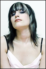 J. 2 (quebon2) Tags: portrait woman white girl beautiful topv111 510fav wow glamour dress jennifer gorgeous flash sigma 50mm18 interestingness261