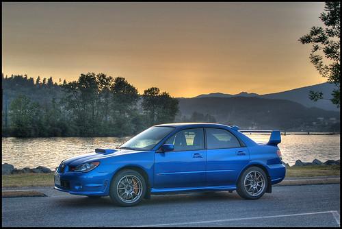 Subaru Impreza WRX STI sunset
