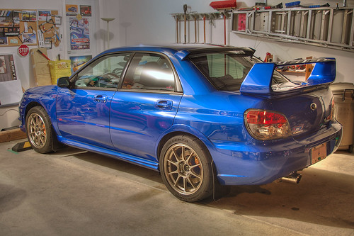 2006 Subaru WRX STI with Weds TC105N wheels