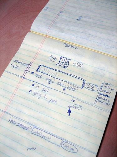 Twitter Original UI Sketched by Jack Dorsey