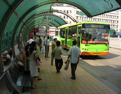 Bus-stop (Life in AsiaNZ) Tags: china street city people bus public canon asia south transport chinese powershot southern stop   nanning  guangxi          lifeinnanning  flickrgiants