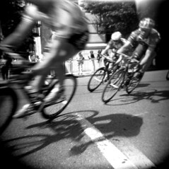 Bike Race (tomdebiec) Tags: bike sport bicycling cycling holga toycamera racing bikeracing bicycleracing debiec top20holga tomdebiec